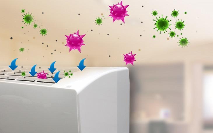 Với màng lọc kháng khuẩn, chiếc điều hòa Panasonic này không chỉ làm sạch không khí, bụi bẩn